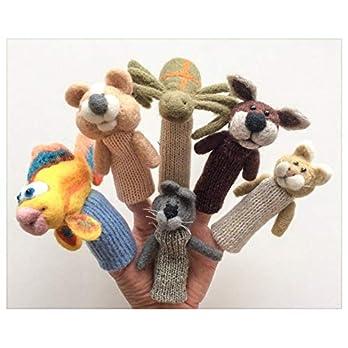 Haustiere – viele gefilzte Wollfingerpuppen