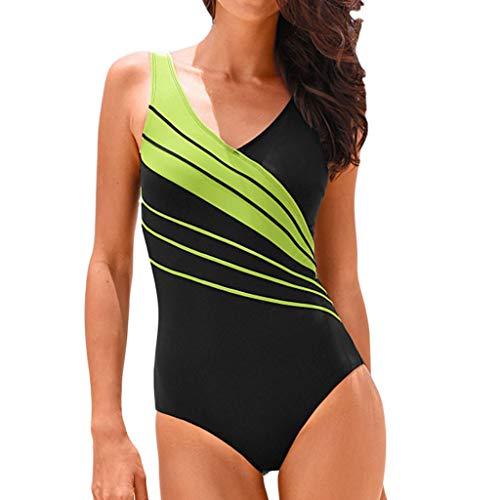 Asalinao Damen Sport Multi-Color-Nähte große Badeanzug Monokini ()