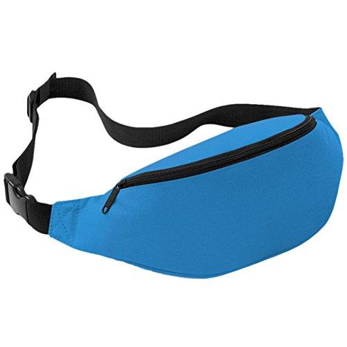 FEITONG Unisex Outdoor Oxford Sports Laufen Hüfttasche Reisen Handlich Wandern Gürteltasche Gürtel Tasche Beutel 2 liters (Blau) Hellblau