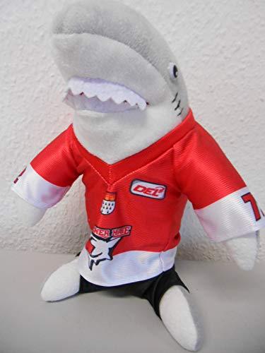 Kölner Haie Kinder Plüsch Maskottchen, Grau/Rot/Weiß/Schwarz, one Size