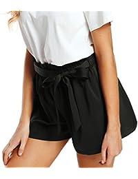 Btruely-Shorts Damen Sommer Kurze Hosen Damen Lässige Design Hohe Taille  Lose Modische Shorts Frau mit… 1676b7a022