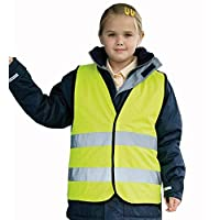 Kids high vis hi viz vest Conforms to EN1150 Class 2-89/686/EEC directive safety visibility
