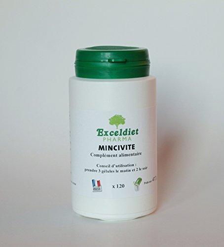 Mincivite- Brûleur de Graisses Extra Fort - 120 Gélules Minceur Haute Performance à la Chlorophylle