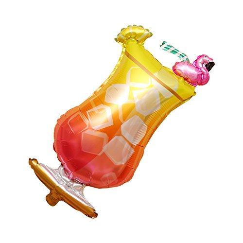 Hemore Weinglas Aluminium Ballon Dekoration Spielzeug Flamingo Huhn Schwanz Tasse 1 Packung...