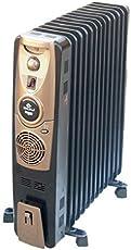Bajaj Majesty RH 9F Plus 2400-Watt Oil Filled Radiator with Fan (Black)