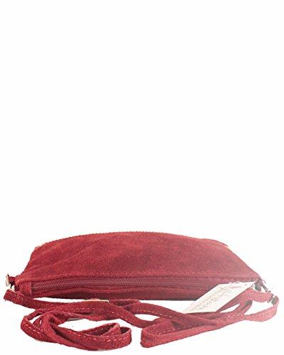 histoireDaccessoires - Pochette Pelle Donna - PO095921U-Romeo Rosso scuro