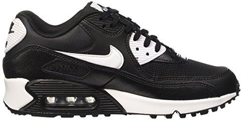 Nike Air Max 90 Essential, Baskets Basses Femme Noir (Black/White/Metallic Silver)