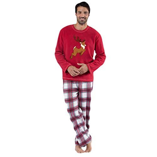 Xinwcang Pyjama für die Ganze Familie, Passender Schlafanzug für Weihnachten, Pyjama-Set Familie Kleidung Sleepwear (Mensch) M