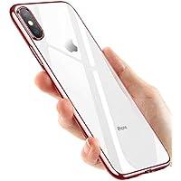 phixilin iPhone XS hülle, iPhone X Handyhülle, Crystal Schutzhülle iPhone XS Silikon Hülle Ultra Dünn Stoßfest Anti-Scratch TPU Bumper Case für iPhone XS/iPhone X Case Cover - Rose Gold