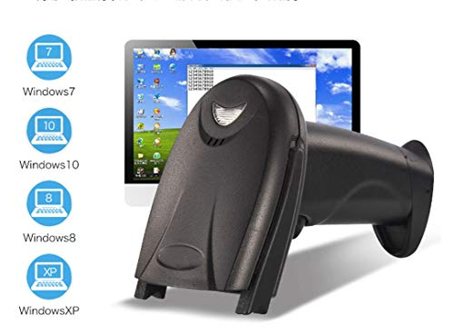 HWZDQLK Barcode-Scanner 2-in-1 Bluetooth-Barcode-Scanner Kabellos und verkabelt Tragbarer Barcode-Scanner USB-Barcode-Leser for Computer, iPhone iPad und andere Android-Smartphones, Tablets (Mobile Barcode-scanner-iphone)