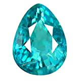 Deluxe Gems Grandidierite Pierre gemme lche 0.12 CT AAA+ Grade VVS Clarity Unheated/Untreated PEAR Cut (3 x 3 mm) Greenish Blue GRANDIDIERITE Gemstone