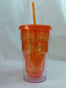 Cool Gear 18 ounces Skull Chiller Tumbler (Orange) by cool ger
