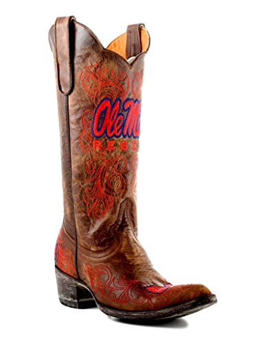 NCAA Mississippi Old Miss Rebels Damen 33 cm Gameday Stiefel, Damen Herren, MS-L018, Messing, 5.5 B (M) US - Rebel Cowboy-stiefel