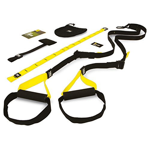 TRX TF00314 Suspension Trainer Home Trx - Juego de accesorios para entrenamiento de suspensión, color amarillo