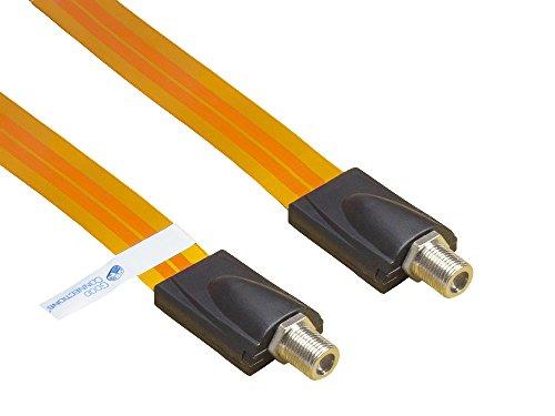 Good Connections® SAT Tür-/Fensterdurchführung - High-Quality, extrem flach - F-Kupplung an F-Kupplung - Gesamtlänge inkl. Stecker 26,5 cm, flexible Länge 17,5 cm Test