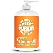 Pets purest 100% Natural Premium Alimentos Pure Scotty salmón aceite Omega 3Complemento para perros, gatos, caballo & mascotas. favorece la piel, articulaciones y Brain Salud