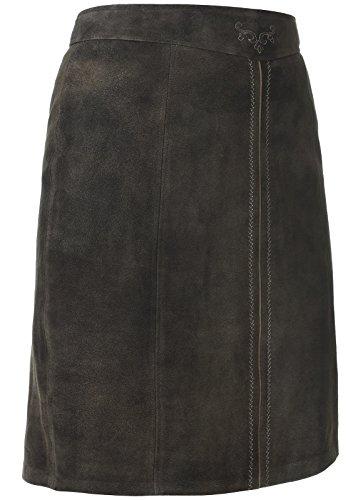 Spieth & Wensky - Damen Trachten Lederrock Phöbe (009802-0317), Größe:36, Farbe:Schiefer/Erdnuss/St 238 Holz (3045)
