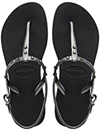 e4f435be107d5 Havaianas Freedom Special Collection Crystal Black Silver Sandals