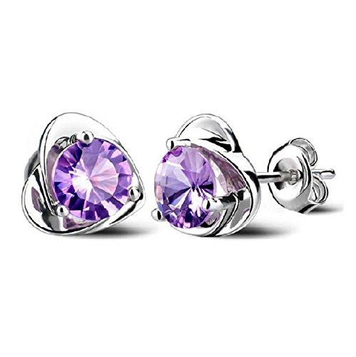 Pengmma donne gioielli di cristallo viola orecchini gancio per l' orecchio