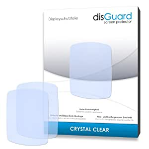 2 x disGuard Crystal Clear Screen Protector for Garmin Edge 200 - PREMIUM QUALITY (crystalclear, hard-coated, bubble free application)
