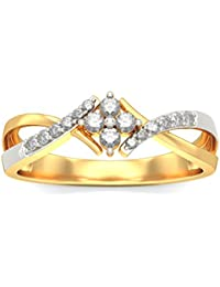 BlueStone 18k (750) Yellow Gold And Diamond Penelope Ring - B01MG00XTO