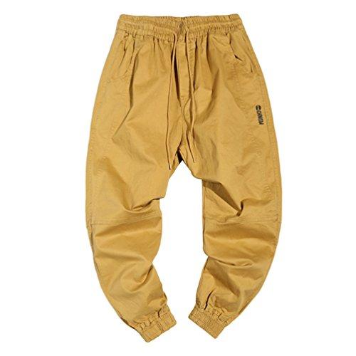 Dooxi Uomo Casuale Leggero Jogger Pantaloni Sportivi Fitness Pantalone
