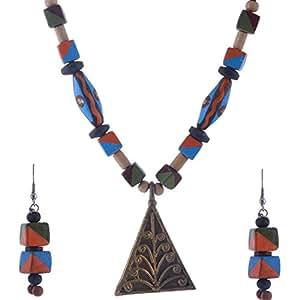 Jharcraft Dokra & Terakota Necklace Set for Women(J28171)
