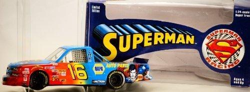 1999-action-nascar-ron-hornaday-16-superman-racing-napa-super-truck-124-scale-diecast-warner-bros-li