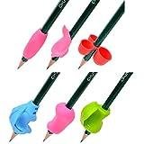 Juego de 12 soportes de agarre para el lápiz, corrección de escritura para niños