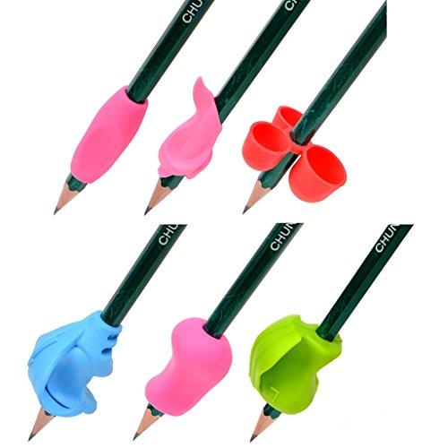 Impugnafacile per scrittura per bambini, impugnatura per correggere la posizione delle dita, strumento per matite, 12pz