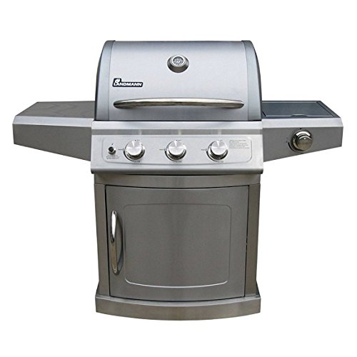 Landmann 3-Burner 304 Grade Stainless Steel Gas BBQ With Cover