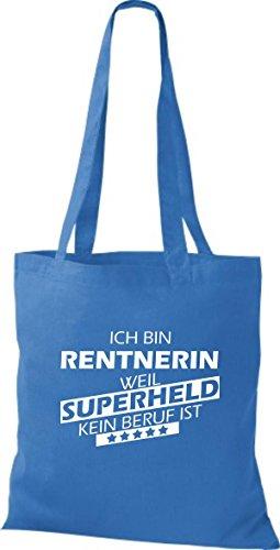 Shirtstown Stoffbeutel Ich bin Rentnerin, weil Superheld kein Beruf ist royal