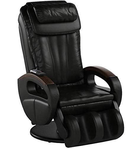 maxVitalis Shiatsu Massagesessel mit Wärmefunktion, Fernsehsessel rollbar, drehbar, Relaxsessel elektrisch verstellbar, Inkl. Aufbau-Service, 6 Massagearten & 6 Programme (Schwarz)