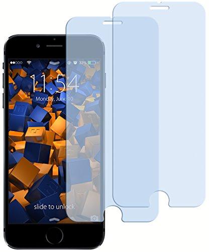 2x mumbi ECO Panzerglas für iPhone 6 6s Panzerfolie Glasfolie (bewusst kleiner als das Display, da dieses gewölbt ist)