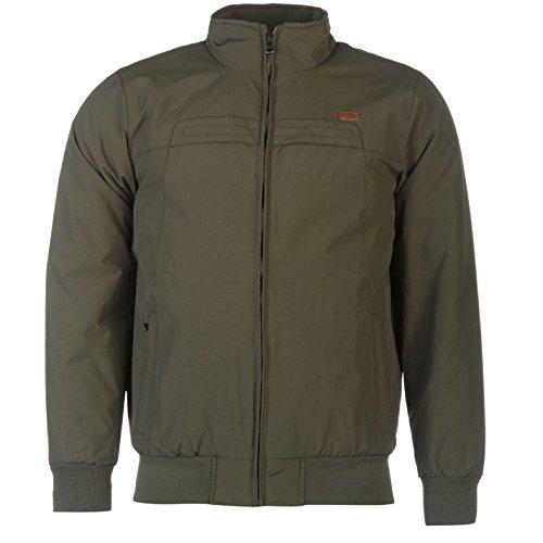 Lee Cooper Giacca Bomber impermeabile piloti Aviatore Bomber giacca a maniche lunghe cachi XXL