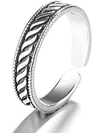7a1e317ae77f Jewelry CCF Plata esterlina S925 Plata tailandesa Hilo Ola Anillo señoras  Anillo de Cola Plata Moda