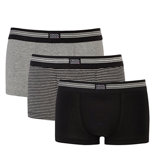 Jockey - Cotton Stretch 1730-2913 - Short - 3er Pack (XXXL (9) 58, Black Stripe) (Stretch-boxer Trunk)