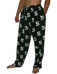 NCAA Michigan State Spartans hommes Fall / Winter Polar Fleece Thermal Sleepwear / Pajama Pantalon