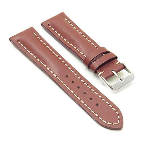 dassari Transit Rost glatt Leder Armbanduhr Band für Breitling 20/1820mm