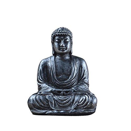 Meditation Buddha-statue (Lembeauty Buddha-Statue, buddhistisch, Figur aus Harz, Meditation, kleine Buddha-Figur, für den Garten, Heimdekoration, 7,5 cm)