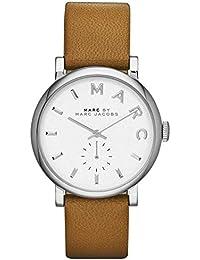 Marc Jacobs MBM1265 - Reloj con correa de cuero, para mujer, color blanco / marrón