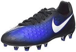 Nike Unisex Kids' Magista Opus Ii Fg Football Boots, Blue (Blackparamount Blueblue Tintwhite), 4 Uk
