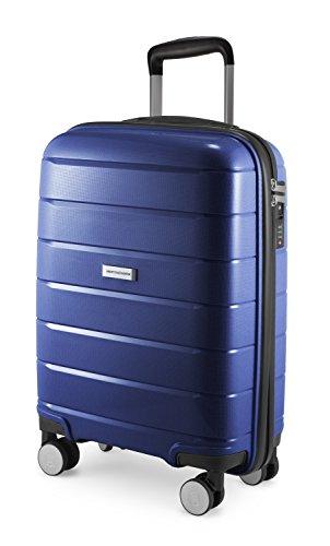 HAUPTSTADTKOFFER - PRNZLBRG - Bagaglio a mano, trolley cabin size, valigia rigida leggera, TSA, 4 ruote, 55 cm, 36 L, Blu Scuro