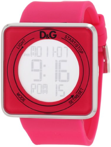 D&G Dolce & Gabbana Women's DW0737 High Contact Pink Dial & Strap Touch Screen Watch