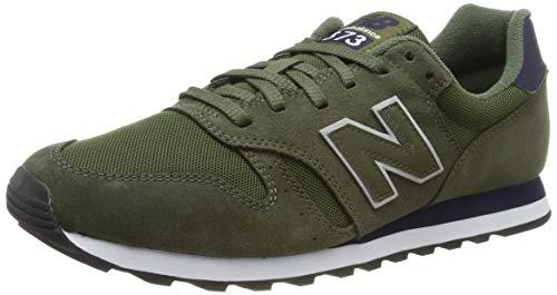 New Balance 373, Zapatillas para Hombre, Verde (Dark Green Dark Green), 43 EU