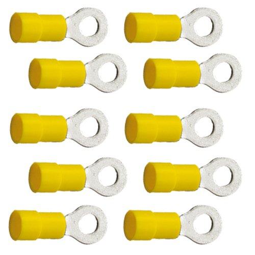 10 Stück Ringkabelschuhe M6 6,4mm gelb 4,0 bis 6,0 mm²
