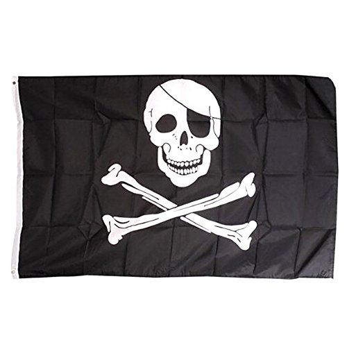 DDG EDMMS 1Piezas Bandera a Mano Bandera de Calavera de Pirata