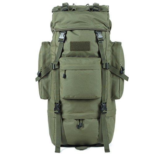 zaino trekking Maschio / Femmina 65L Alpinismo Bag / Borsa a tracolla / Multi-purpose di viaggio zaino impermeabile esterna Zaini da escursionismo ( Colore : C , dimensioni : 65L-72*30*23cm ) A