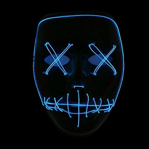 Bolange maschera di halloween confortevole modalità remota illuminazione colore -> blu ghiaccio