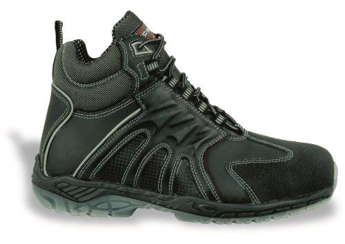 Sicurezza a forma di scarpa S3 SRC Back mano Cofra protagonista, al lavoro o in vera pelle in alluminio tappo a forma di scarpa donna grazie alla protezione in nero Nero